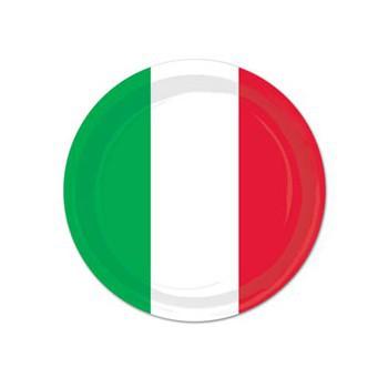 Borden in italiaanse vlag kleuren
