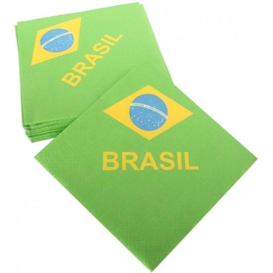 Braziliaanse vlag servetten
