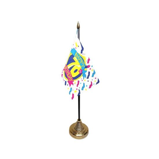 Bureau tafelvlag Happy Birthday 70