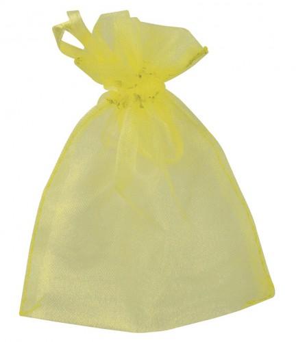 Cadeau zakjes geel van organza