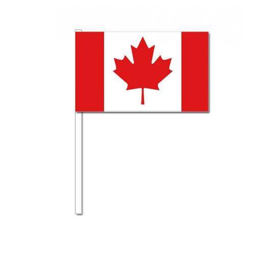 Canada zwaai vlaggetjes 12 x 24 cm