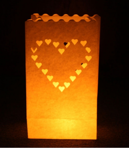 Candle Bags set met Hart
