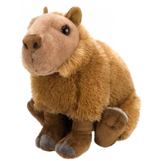 Capibara knuffel met kraalogen 30 cm
