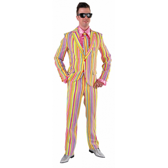 Carnavalskleding heren kostuum pastel