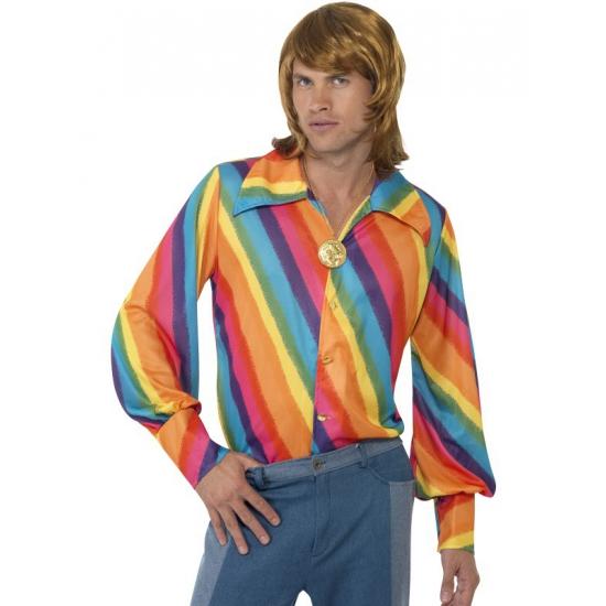 Carnavalskleding regenboog blouse