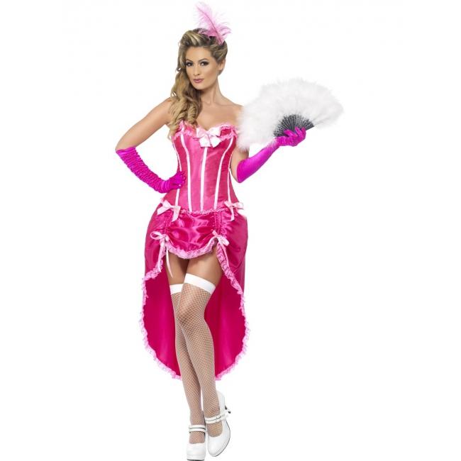 Carnavalskleding roze burlesque jurken