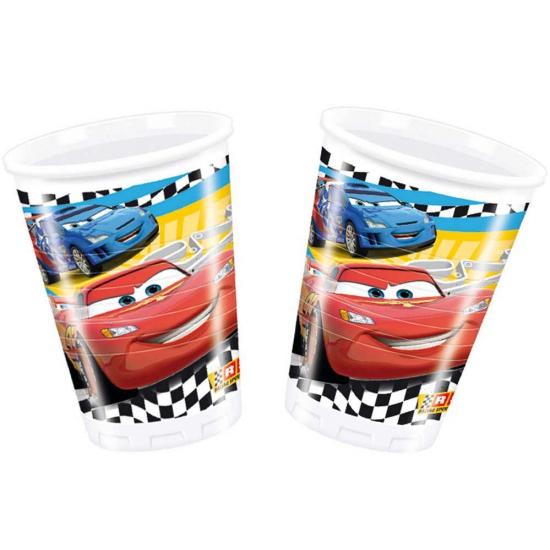 Cars bekertjes van plastic 200 ml 8 stuks