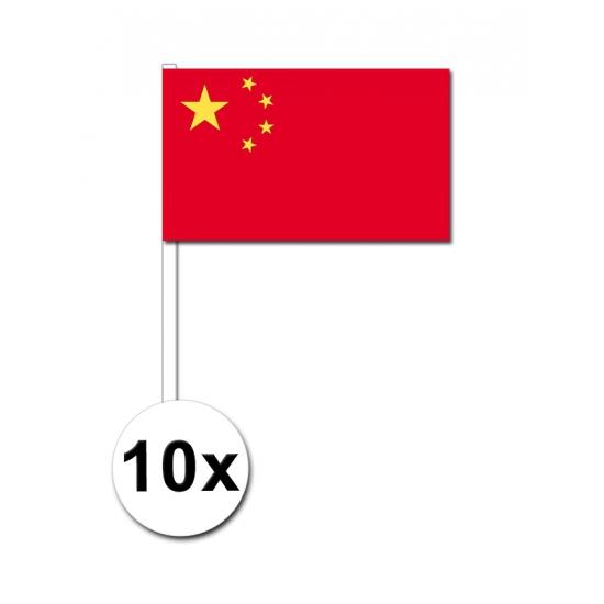 China zwaai vlaggetjes 10 stuks
