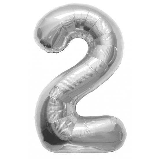 Cijfer 2 helium ballonnen