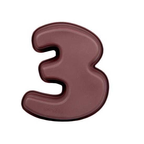 Cijfer bakvorm nummer 3