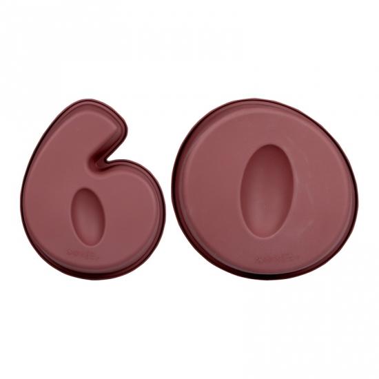 Cijfer bakvormen zestig