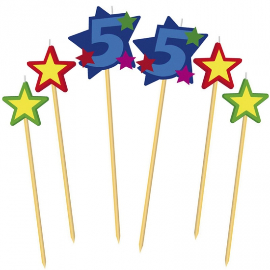 Cijfer kaarsjes op prikker 55