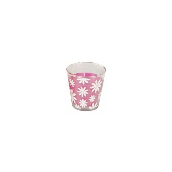 Citronella geurkaarsje roze