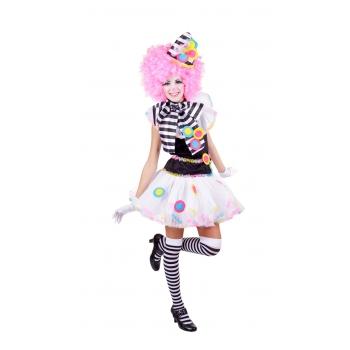 Clown kostuum zwart wit