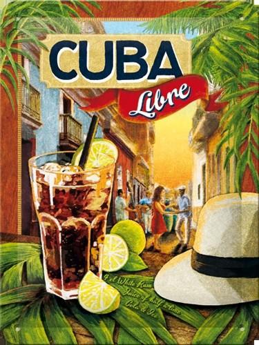 Cocktail muurplaatje Cuba Libre 15 x 20 cm