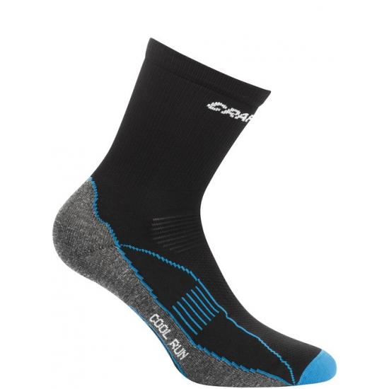 Craft sokken voor het sporten zwart/blauw