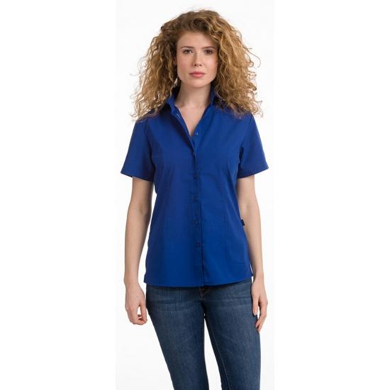 Dames overhemd blauw van L amp S