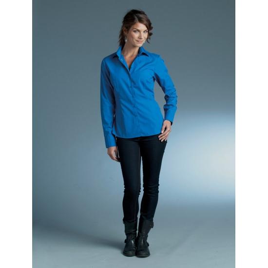 Dames overhemd kobalt van L amp S