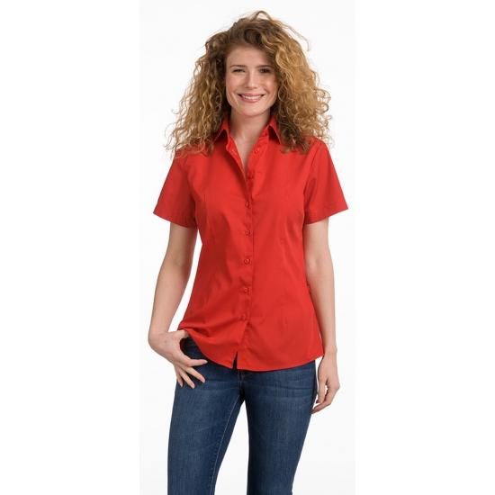 Dames overhemd rood van L amp S