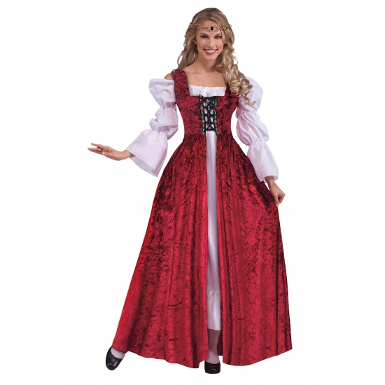 Dames verkleedkleding Middeleeuwen
