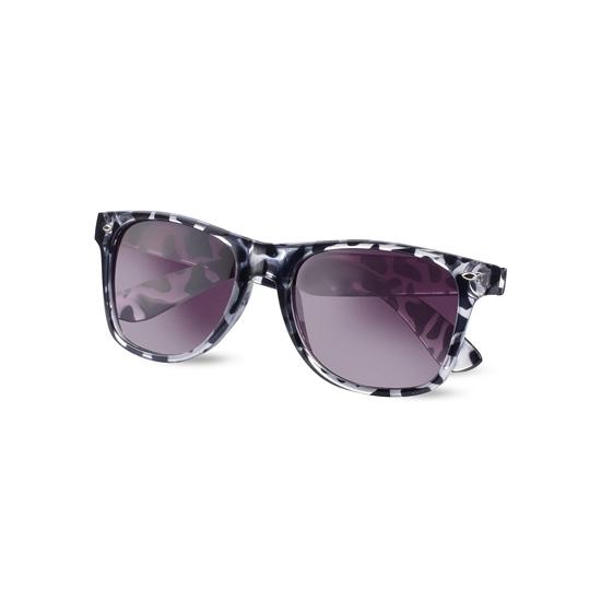 Dames zonnebril zwart met wit
