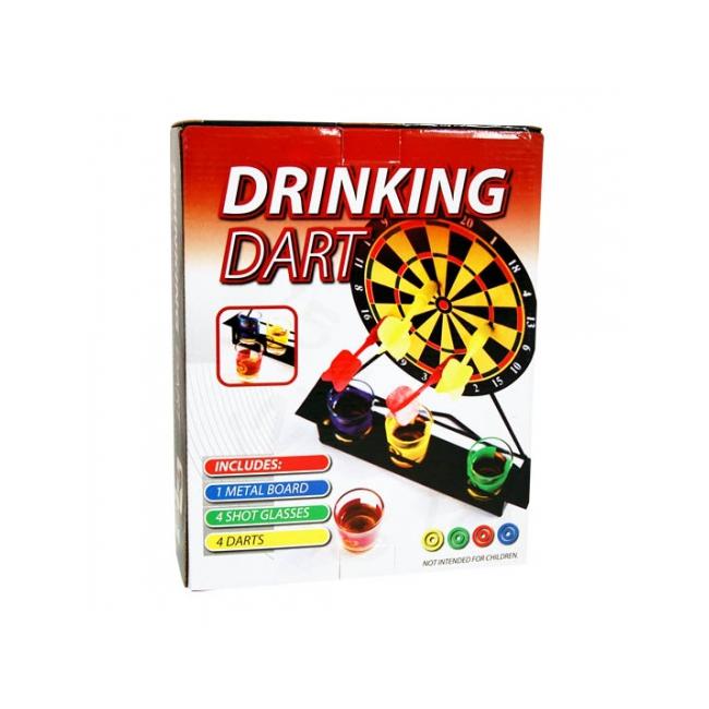 Dartbord drinkspel voor vier personen