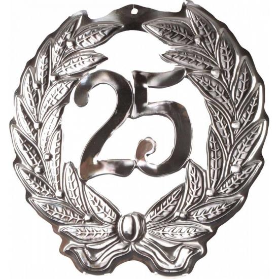 Decoratie bord 25 jaar