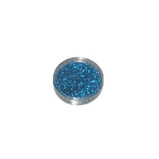Decoratie materiaal blauwe glitters