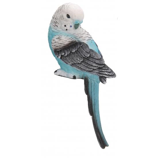 Decoratie parkiet blauw met wit