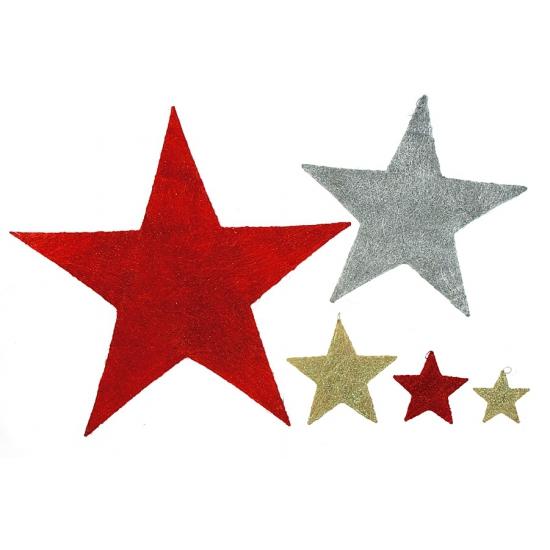 Decoratie ster met glitters 30 cm