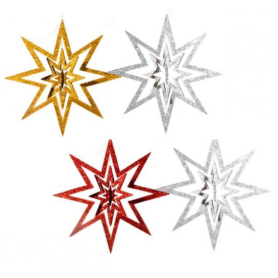 Decoratie ster om op te hangen 22 cm