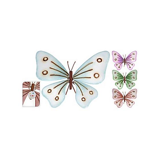 Decoratie vlinder voor in de tuin 32 cm