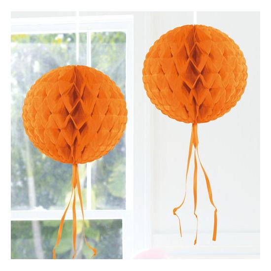 Decoratiebollen oranje 30 cm