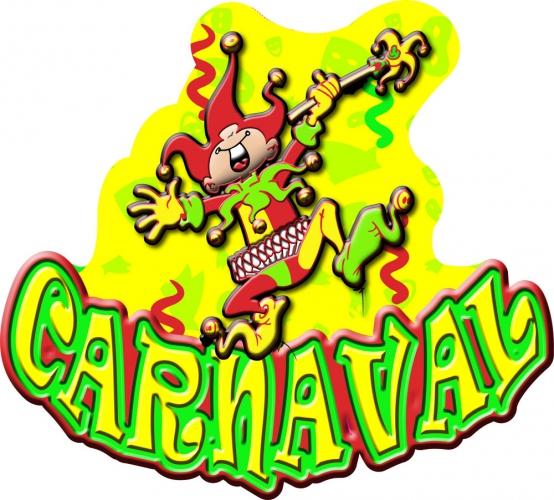 Decoratiebord Carnaval 57 x 53 cm