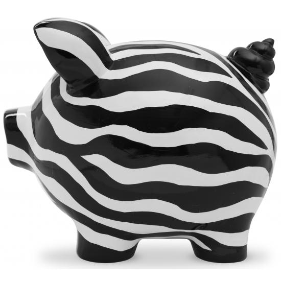 Design spaarvarken Ziggy Zebra 20 cm
