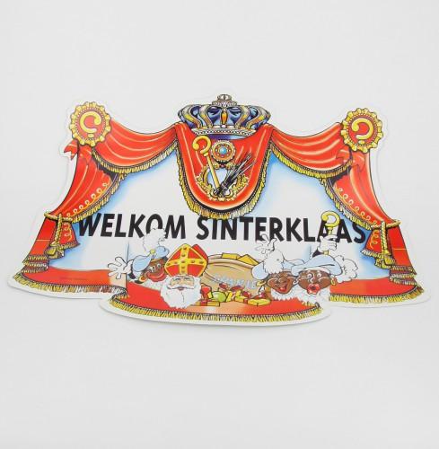 Deurbord welkom Sinterklaas 35x48 cm