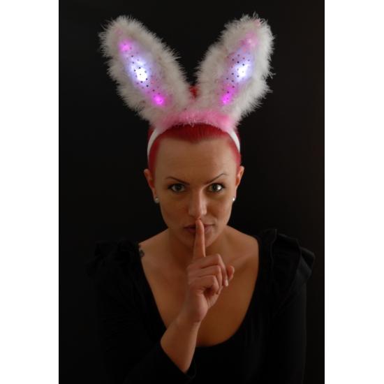 Diadeem met bunny oren en LED