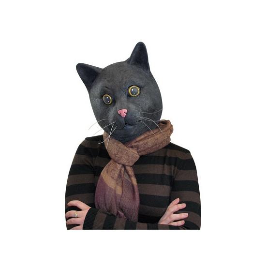 Dierenmasker zwarte kat
