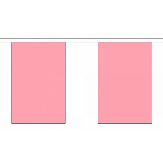 Effen roze vlaggenlijn rechthoekig