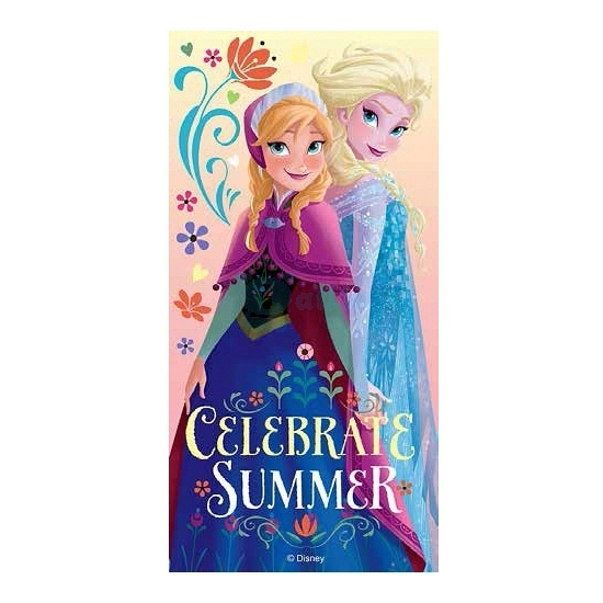 Elsa en Anna handdoek 70 x 140 cm
