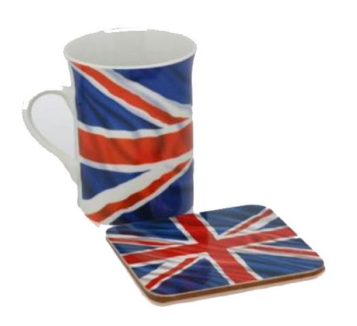 Engeland onderzetter met beker