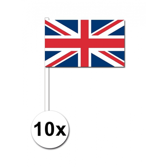 Engeland zwaai vlaggetjes 10 stuks