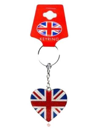 Engelse sleutelhanger met hartje
