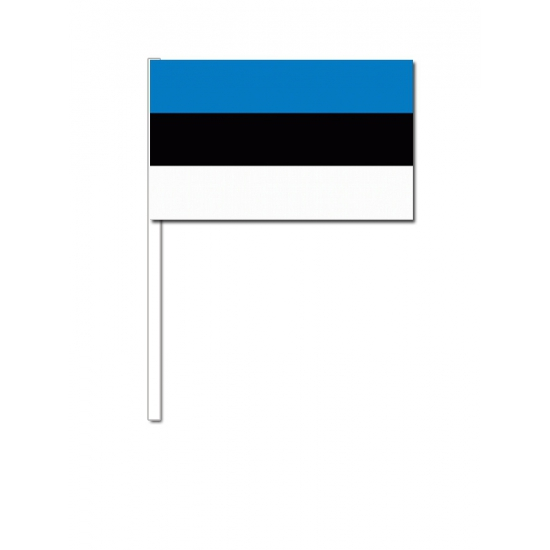 Estland  zwaai vlaggetjes 12 x 24 cm