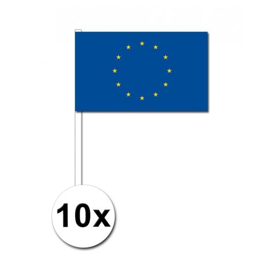 Europa zwaai vlaggetjes 10 stuks