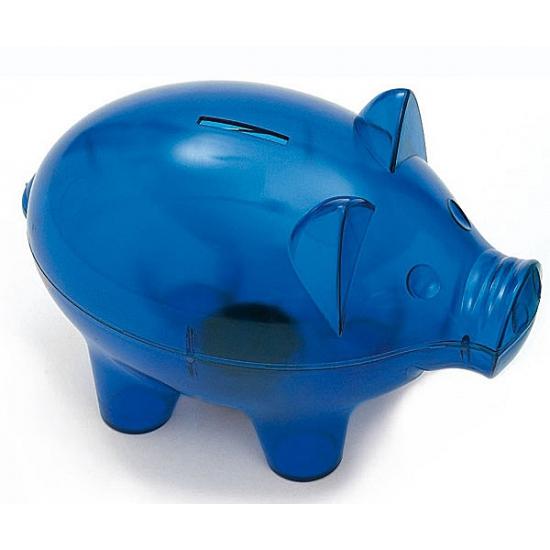 Extra grote spaarpot in het blauw