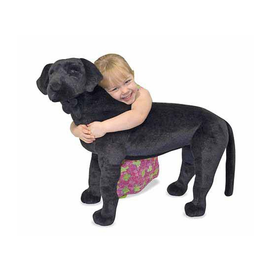Extra grote zwarte labrador knuffel