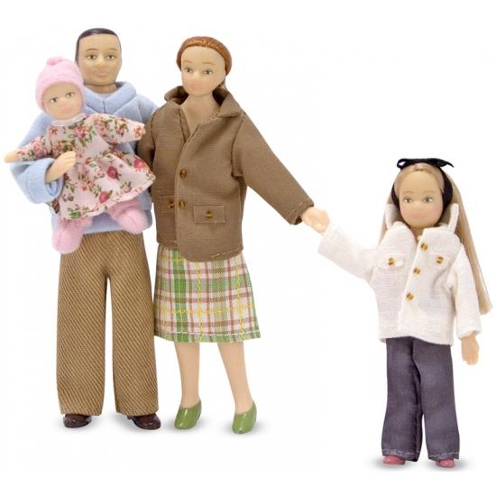 Familie poppen Victoriaanse stijl