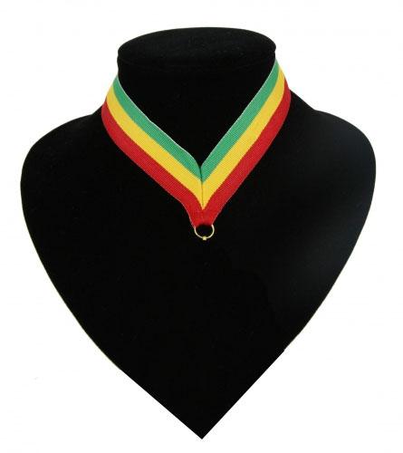 Fan medaille lint groen  geel  rood