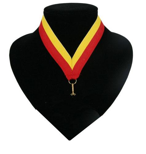 Fan medaille lint rood en geel